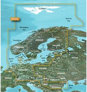 BlueChart® g3 Vision®/VEU721L/Norra Europa