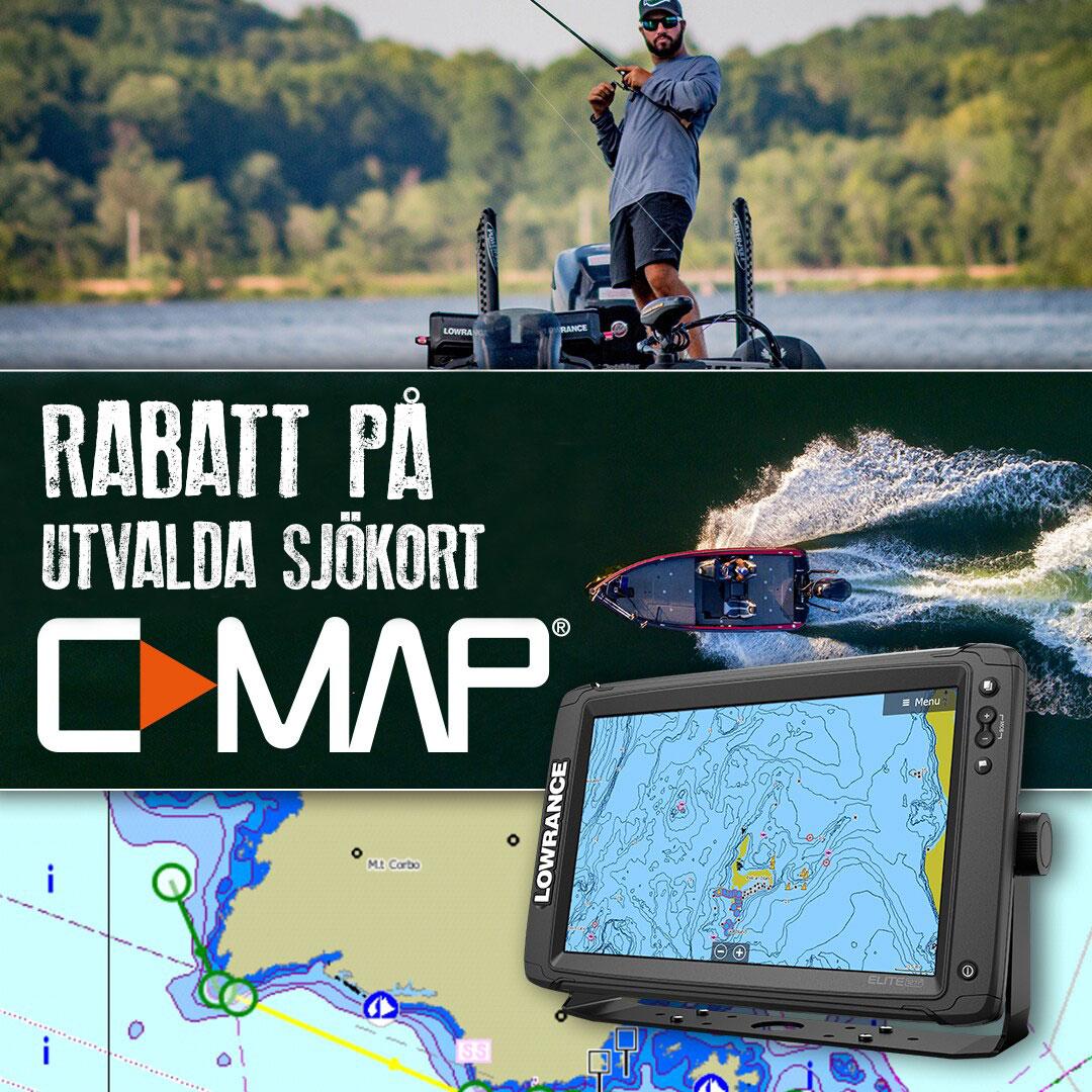 C-MAP sjökort - Endast vid köp av Lowrance/Simrad GPS