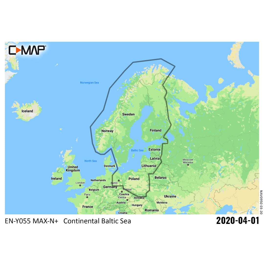 C-MAP Continental Y055 (Baltic Sea)