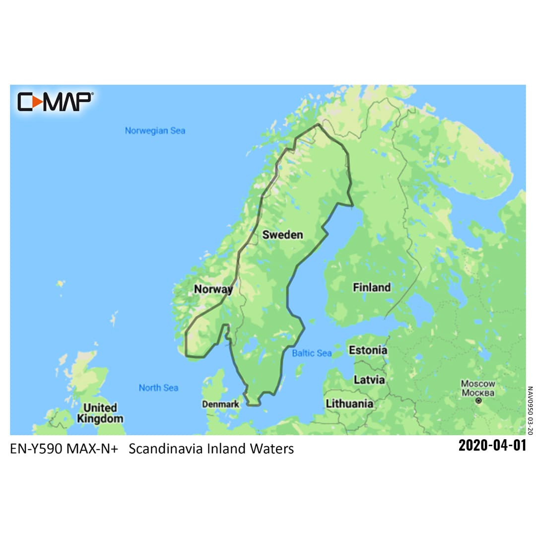 C-MAP MAX-N+ Local  590 Inland Sverige