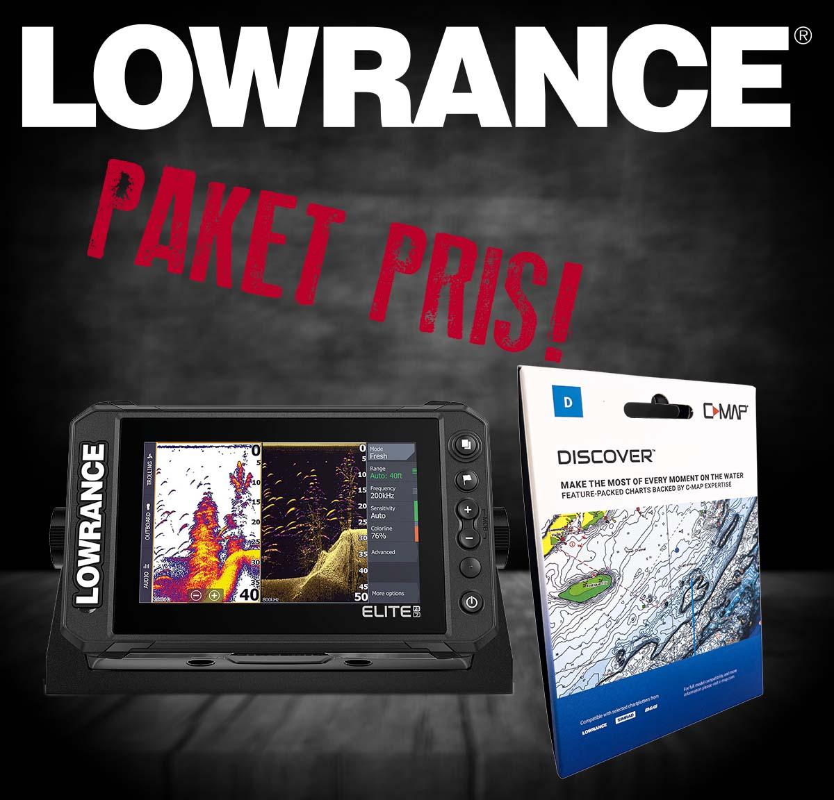 "Lowrance Elite FS 7"" paket med Sjökor Y055 REA"