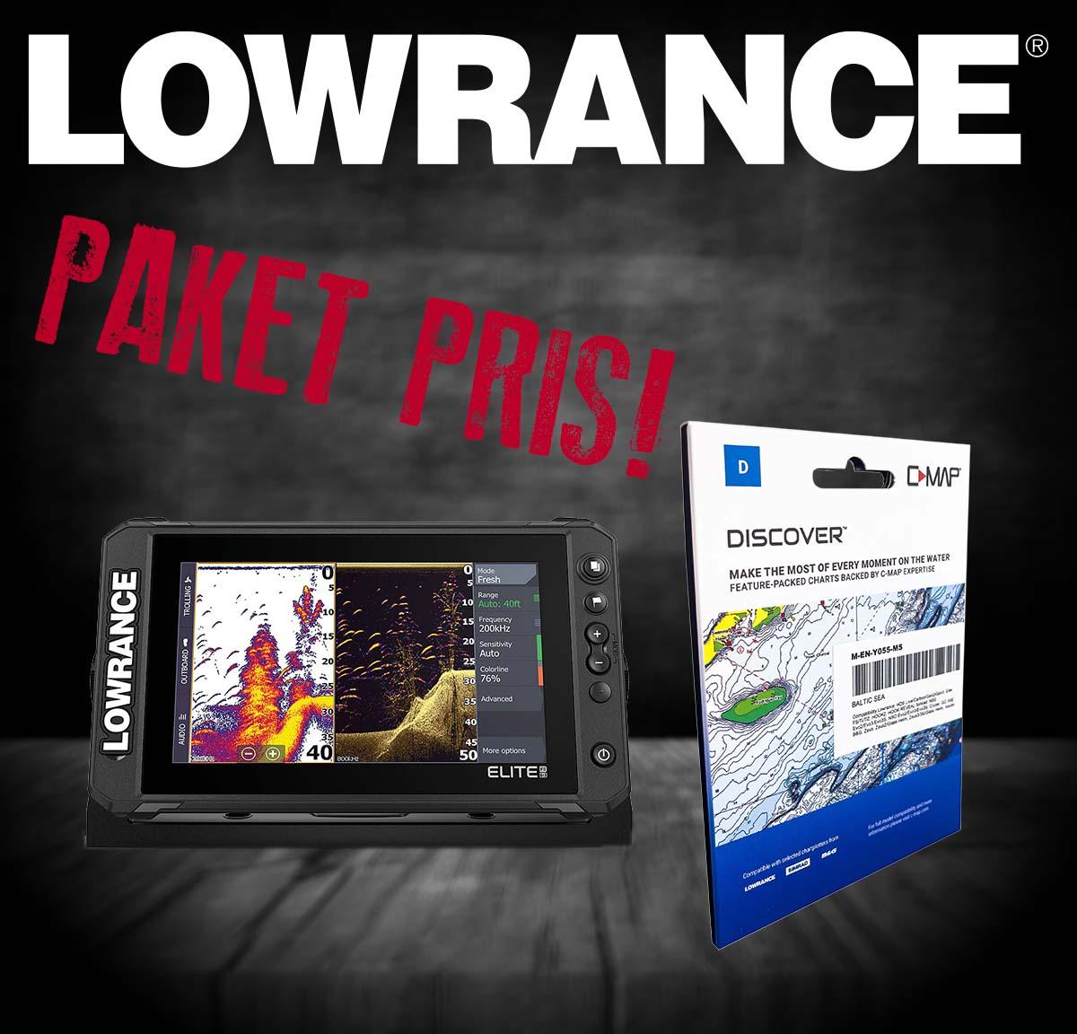 "Lowrance Elite FS 9"" Paketerbjudande."