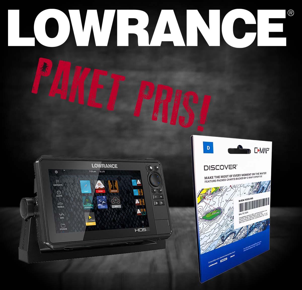 Lowrance HDS LIVE 9  (3-in-1) + sjökort Y055.
