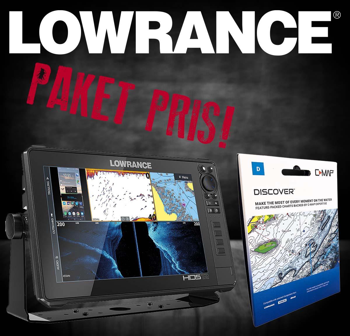 Lowrance HDS LIVE 12  (3-in-1)+ sjökort Y055