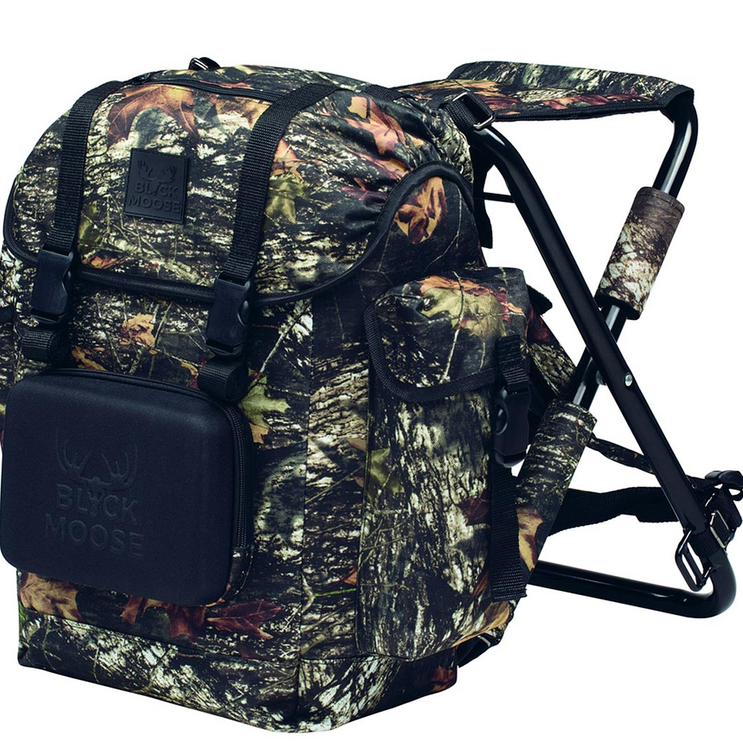 BlackMoose Stolryggsäck med stol Black Camo