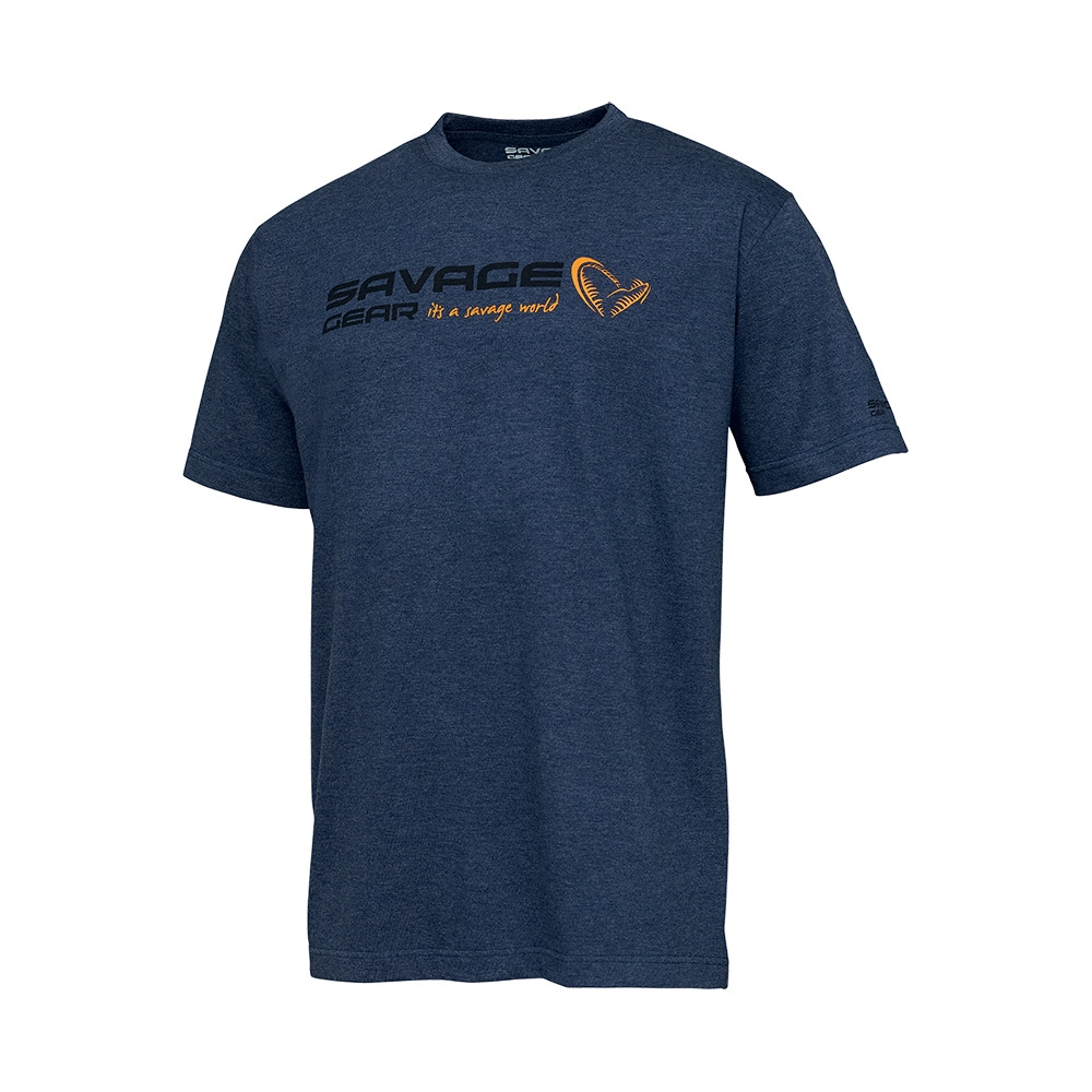 Savage Gear Signature Logo T-shirt Blue Melange
