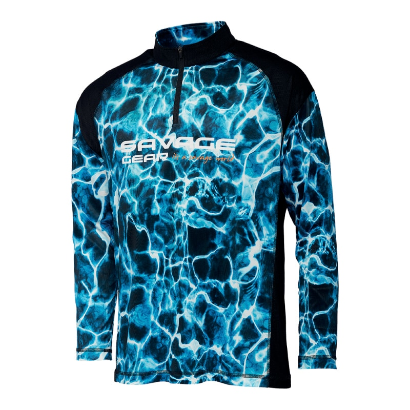 Savage Gear Marine UV Long Sleeve Tee Sea Blue
