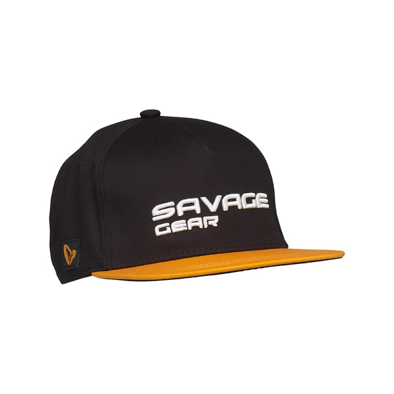 Savage Gear Flat Peak 3D Logo Cap Black Ink