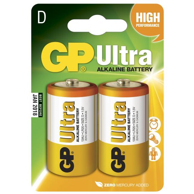 GP Batteri LR20/D 2st (REA!)