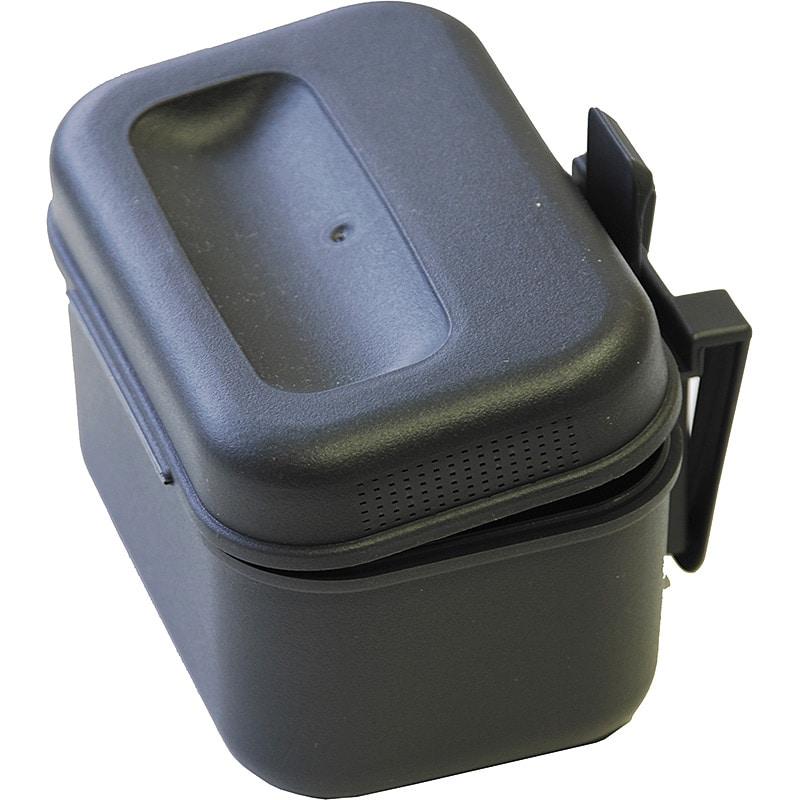 Maskburk plast med bältesclips 100x66x65