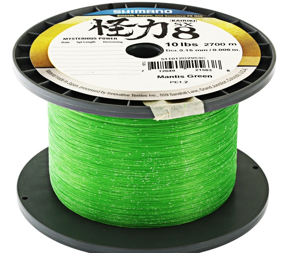 Shimano Karikiri SX8 Braid Mantis Green 2700m 0,28mm