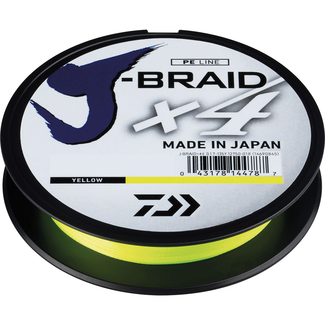 Daiwa J-Braid X4 Gul 270m 0,33mm