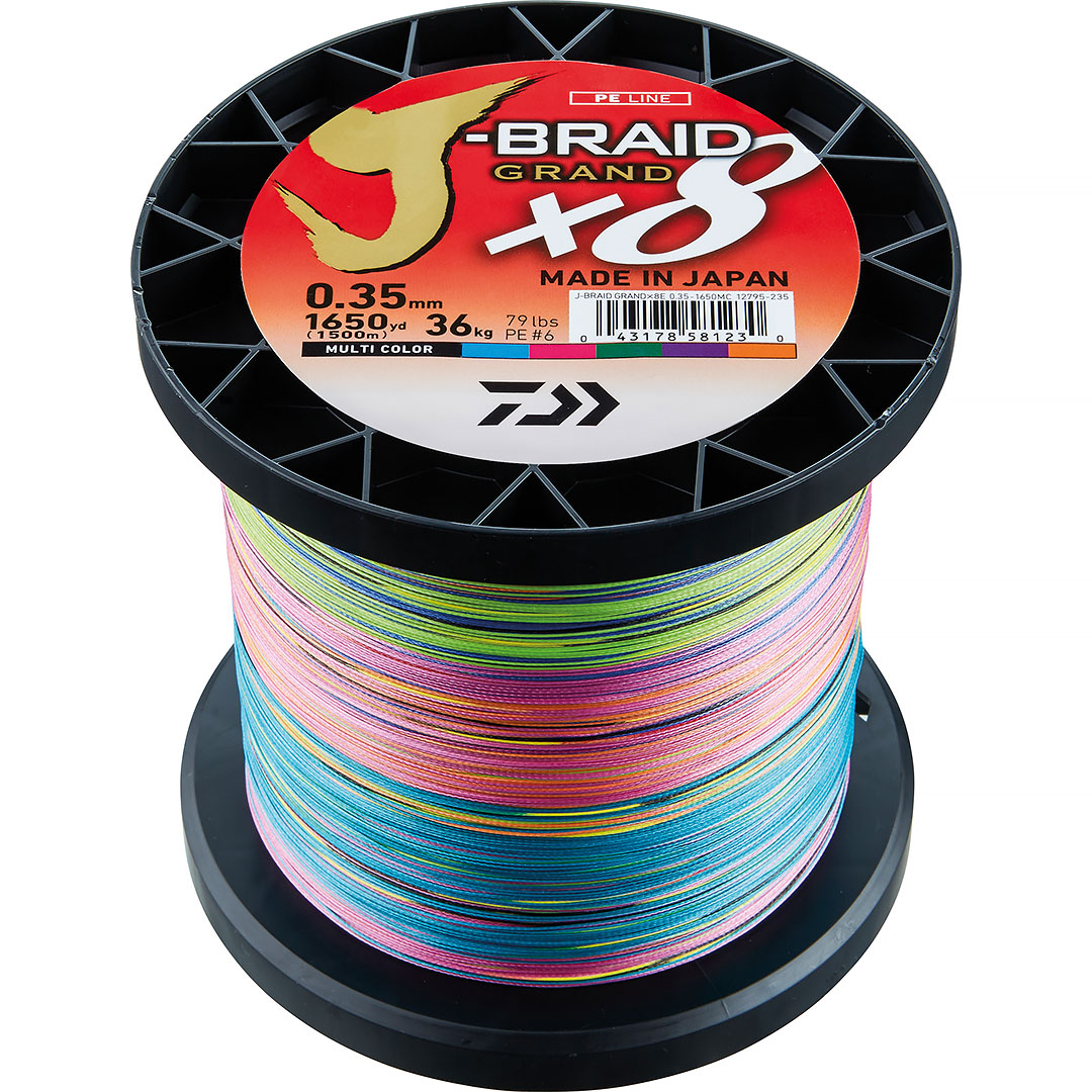 Daiwa J-Braid Grand X8 Multicolor 1500m