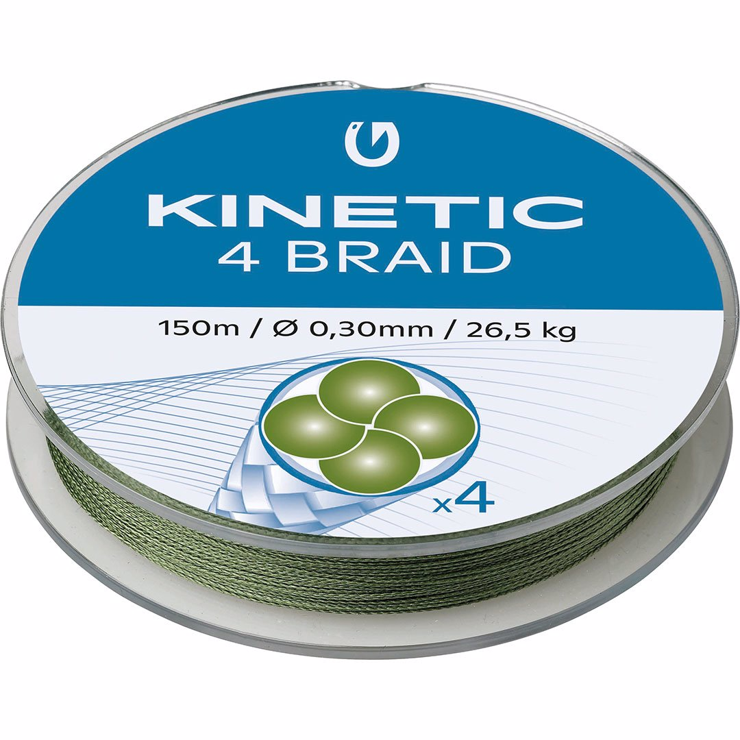 Kinetic 4 Braid 150m Dusty Green