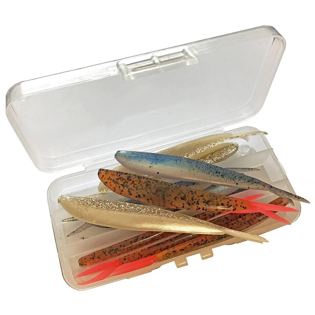 """LC Fin-S-Fish 4""""/ 3 blandade färger i låda (k)..."""
