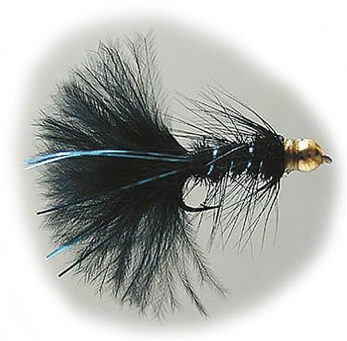 GoldHead WollyBug Black