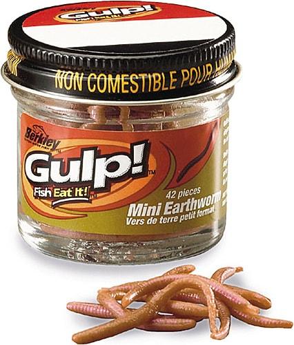 Berkley Gulp! Mini Earthworms Brun