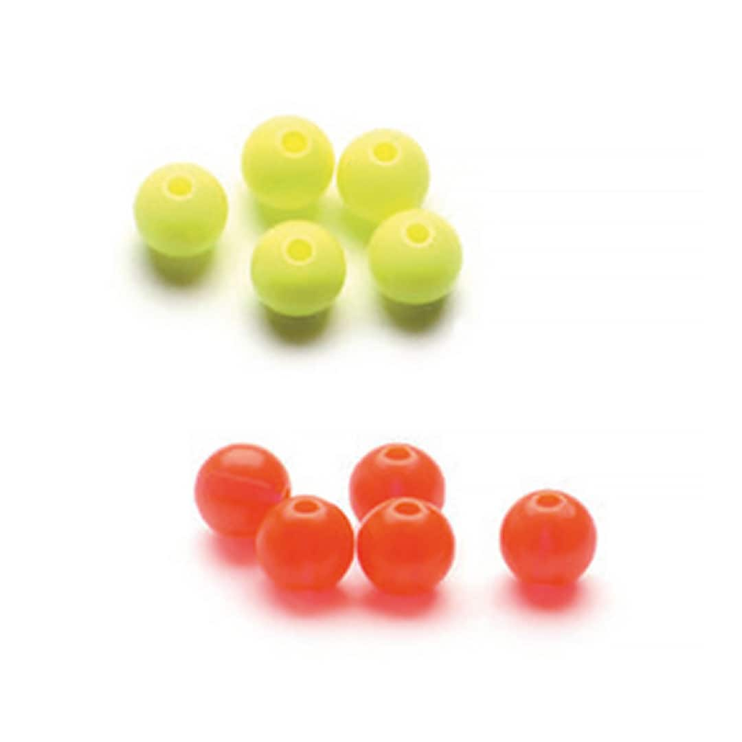 Plastic Beads blandade färger 6mm (TexasRigs)