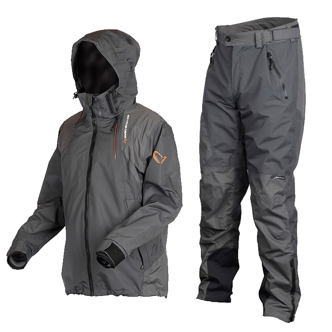 Savage Gear Black Savage Suit jacka &  byxa