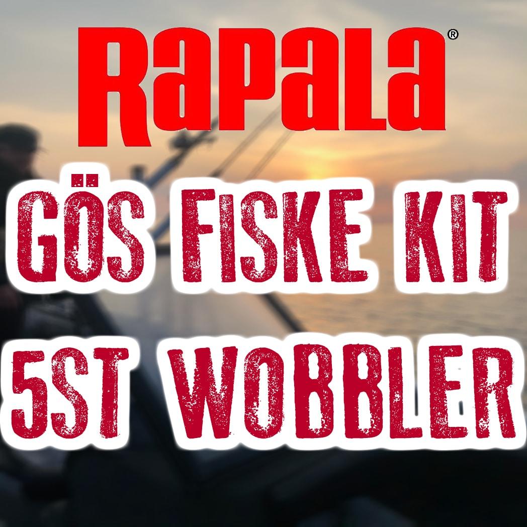 Rapala Gösfiske kit 5st wobbler